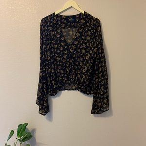 Blue Life Wrap Blouse